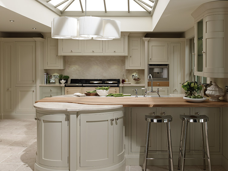 Cream and timber kitchen design